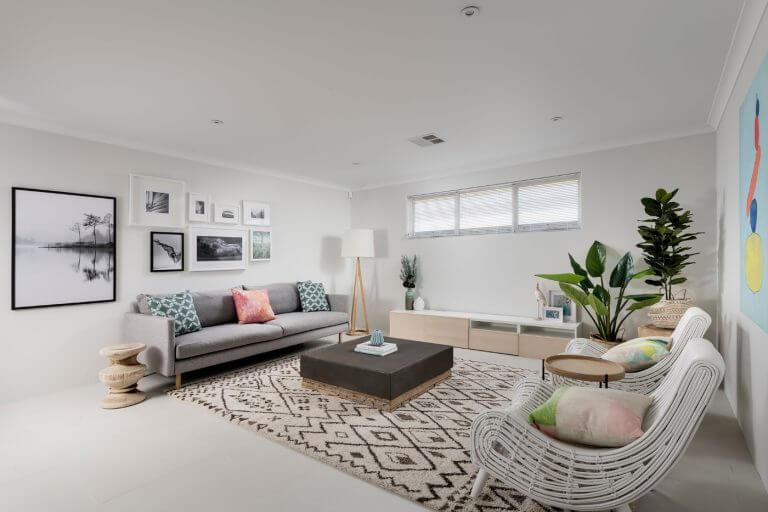 Living room of the Adventurer by Perth home builders, Move Homes'