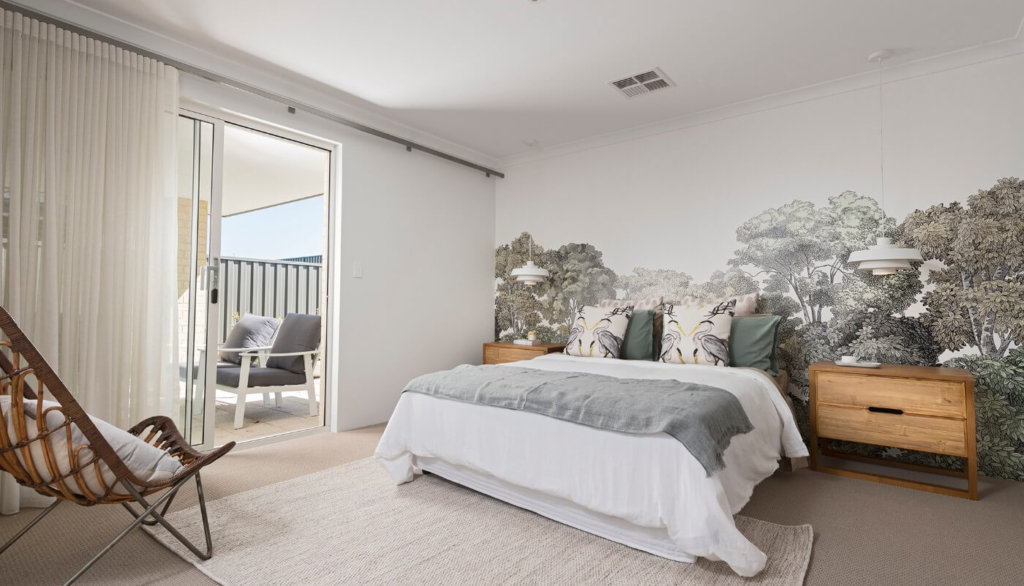 Master bedroom of the Adventurer by Perth home builders, Move Homes'