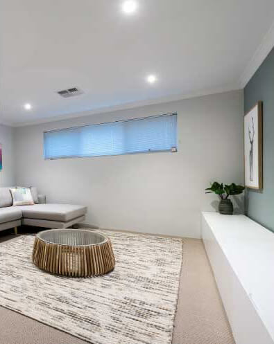 Interior LED lights throughout are inclusions Move Homes house and land packages in Perth