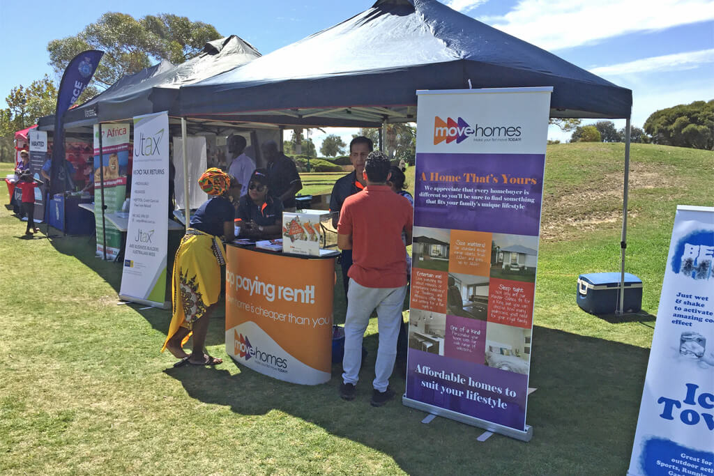 Move Homes stall and team at the 2019 Jambo Festival