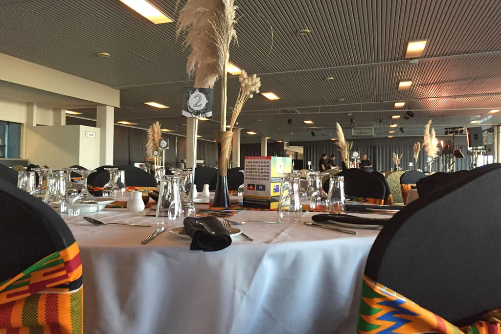 Dining arrangement at the Africa Day by the OAC
