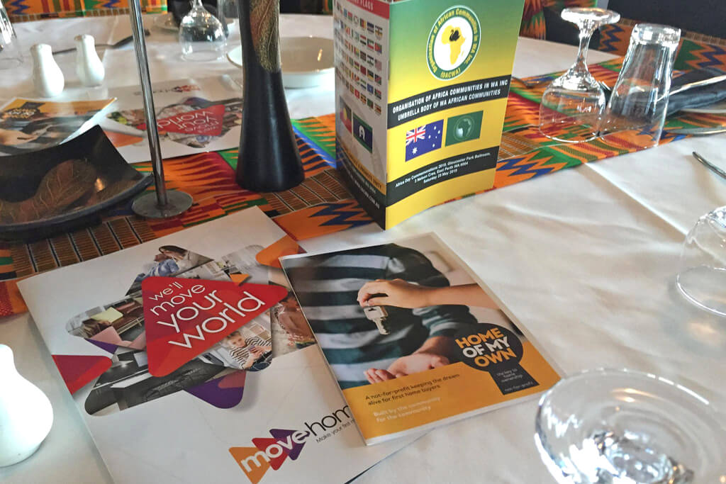 Move Homes brochures at the Africa Day by the OAC