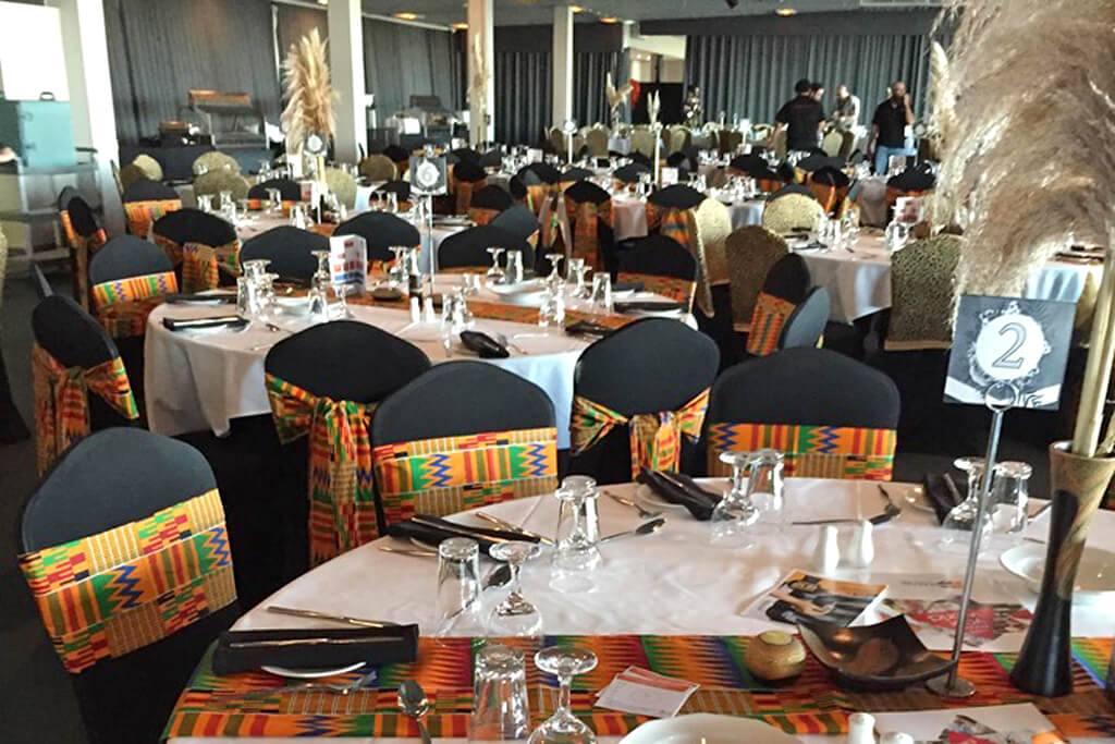 Dining tables at the Africa Day by the OAC