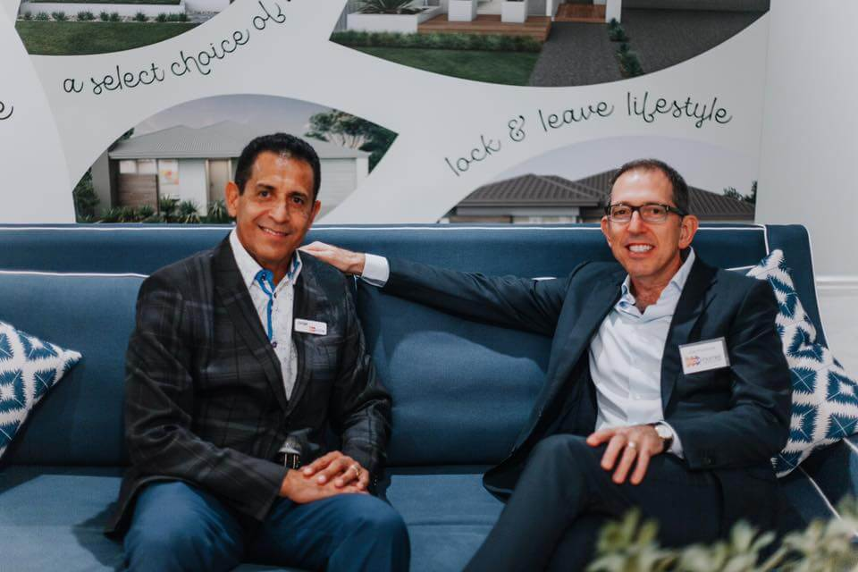 Jorge Barbosa and Joe at Move Homes' Brazilian Night at our display home within Crest at Landsdale