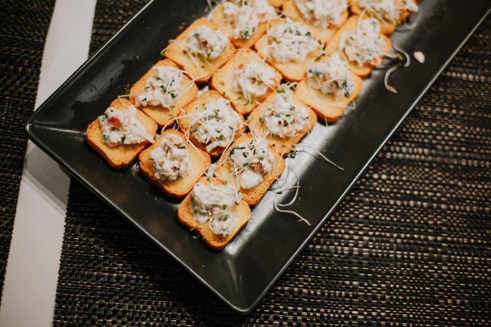 Bruschetta from the Brazilian Night at Move Homes' display home within Crest at Landsdale