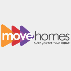 Move Homes' logo on grey background