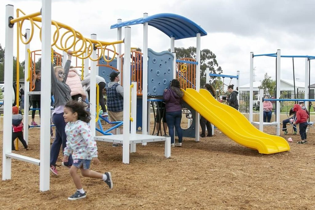 Children playground at Peregrine Estate in Piara Waters nearby house and land packages by Move Homes