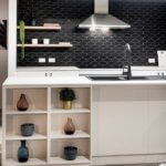Contrasting kitchen interior design in Move Homes' Rosehill Waters display house