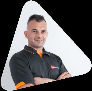 Move Homes' new home builder, Paul Istratoaie triangular headshot
