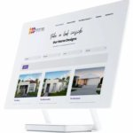 White matte iMac mockup of Move Homes website for our 7 highlights of 2019
