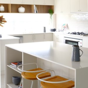 A large kitchen bench in Move Homes Landsdale display home