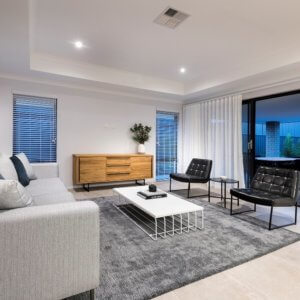 Recessed ceilings in Move Homes display home in Perth