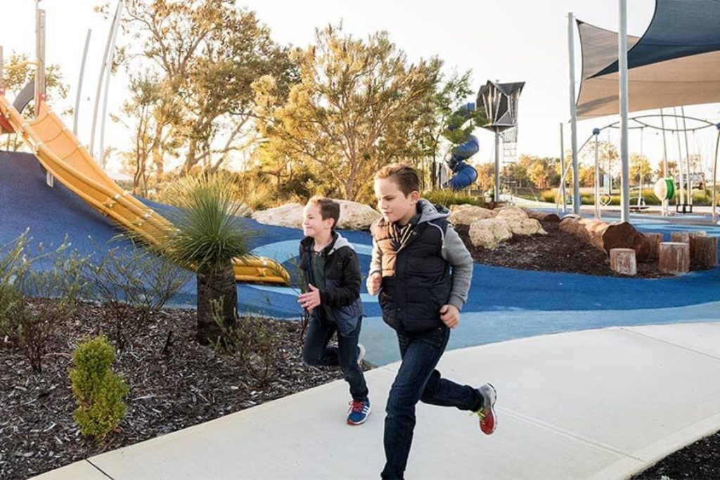 A park in Treeby where Move Homes offers affordable house and land packages for new home buyers in Perth
