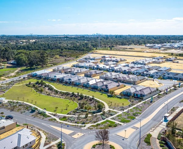 Aerial shot of Peregrine Estate where Move Homes has House and Land Packages