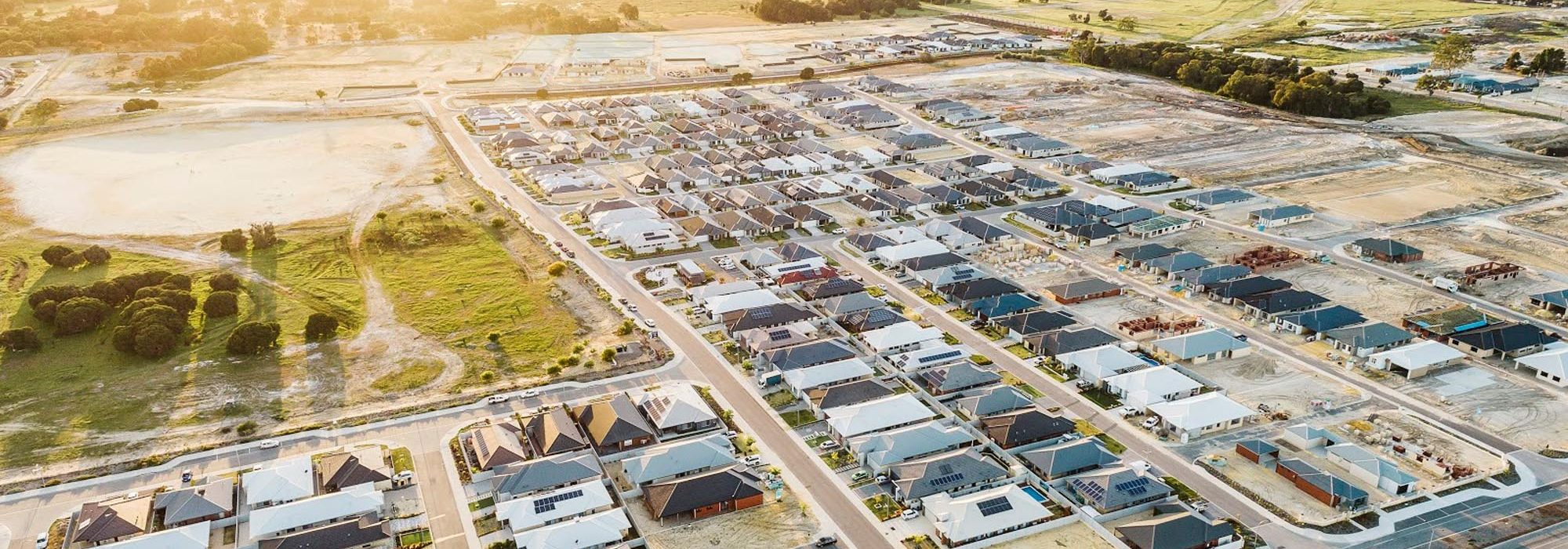 Aerial view of Brabham where Move Homes has House and Land Packages