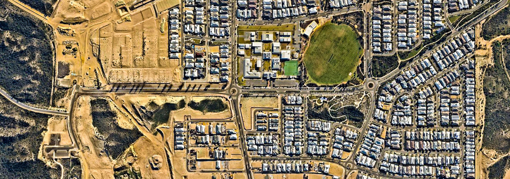 Aerial plan of house and land packages in Alkimos in Perth