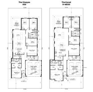 Comparison of R30 home design to RMD30 home design