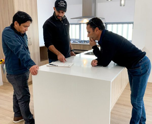 Move Homes men conducting practical completion inspection before move in