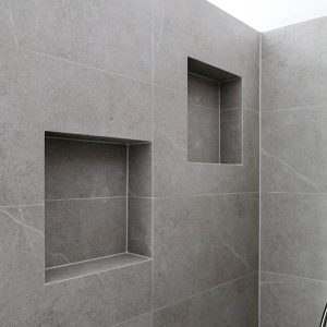 Recess nooks in shower wall by Move Homes