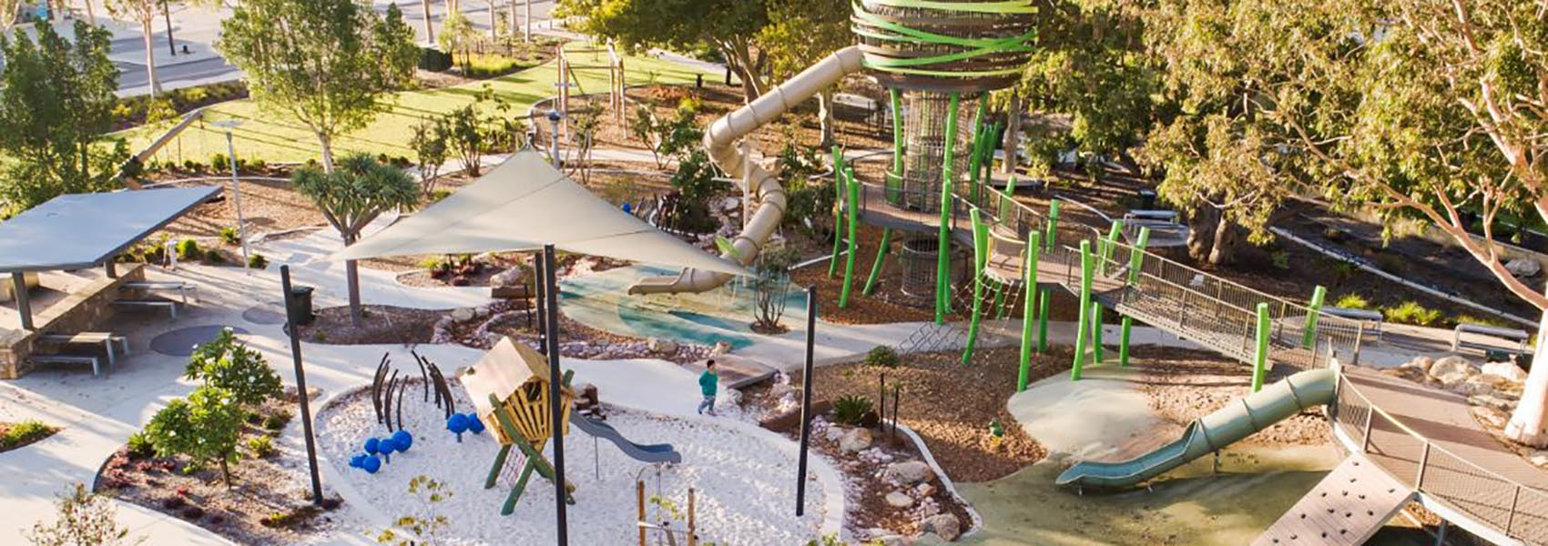 Jungle Park in Whiteman's Edge in Brabham features a high bird's nest for kids