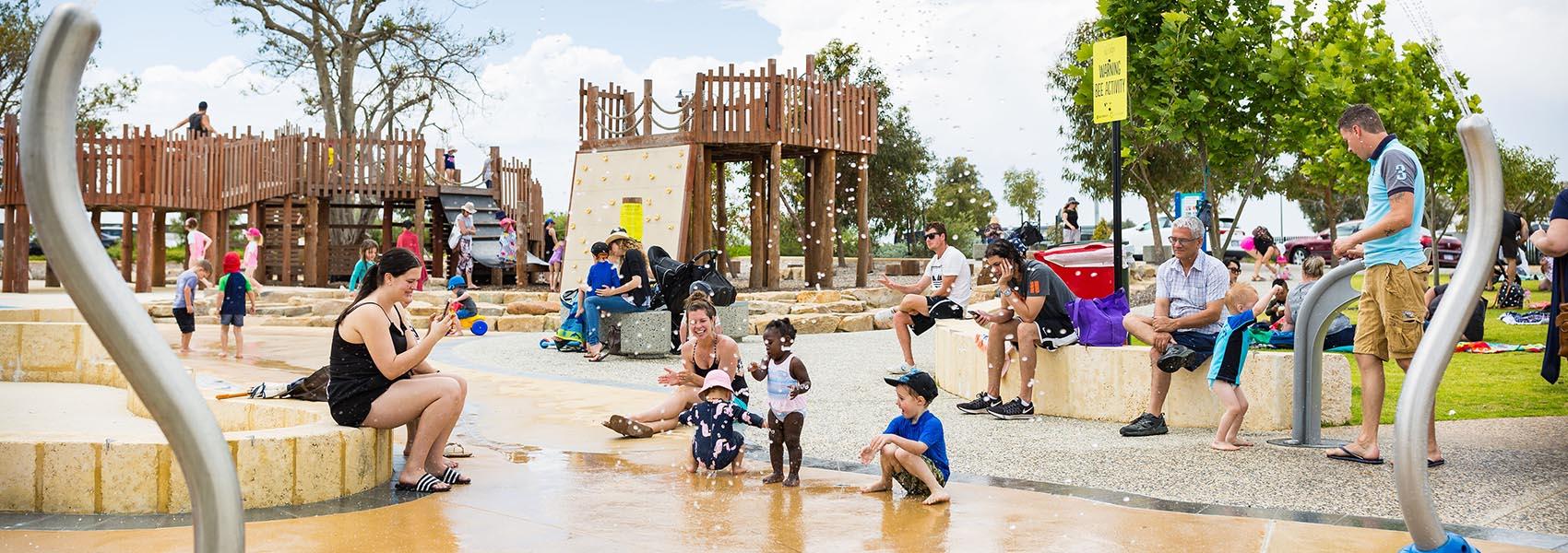 Kinkuna Park in Allara Estate features a free water playground