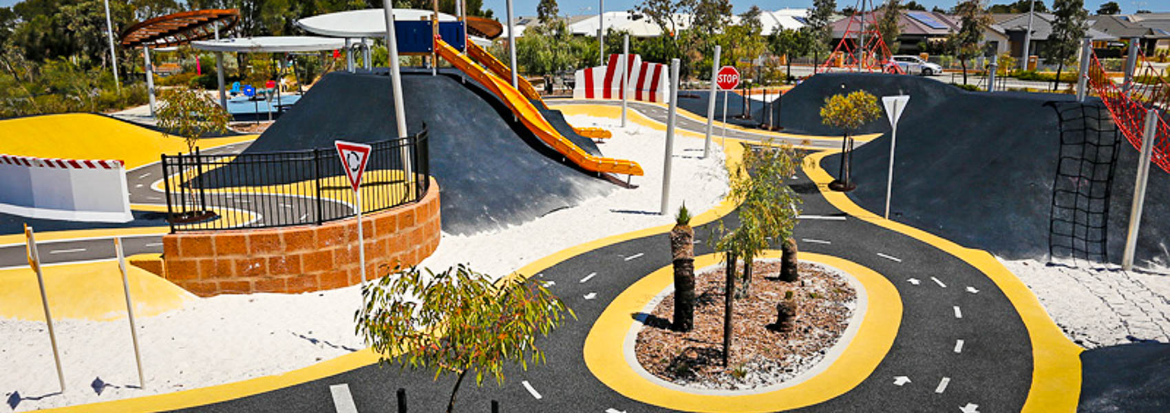 The Pitstop Park in Banksia Grove is great for kids learning to ride a bike