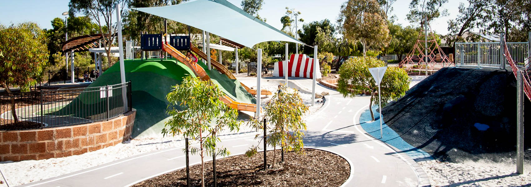 Pitstop Park in Banksia Grove has slides and cycling paths