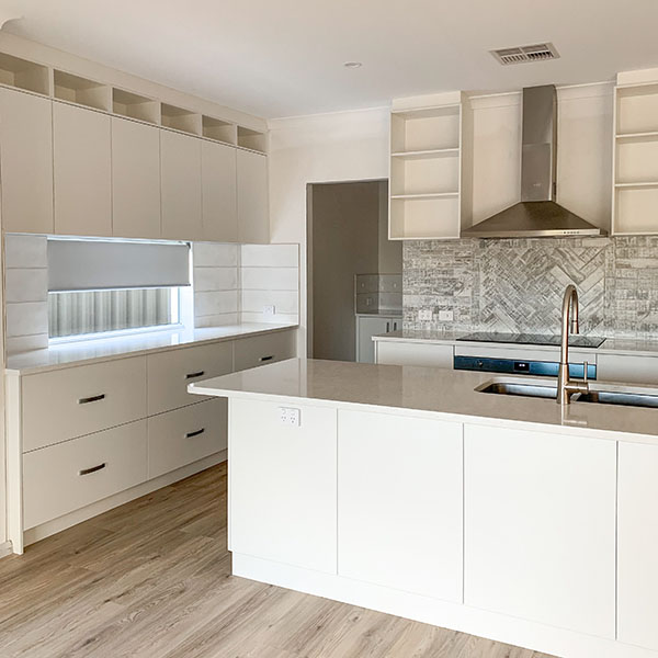 New kitchen of a home with Catherine Burke